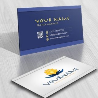 Hands Holding the Sun logo free card design