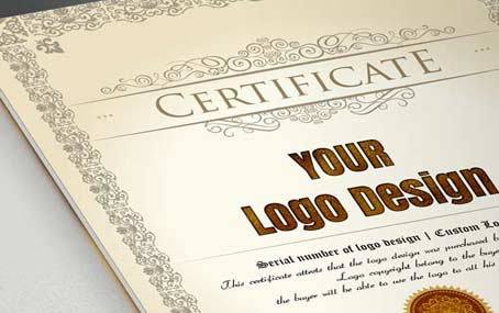 Certificate logo design license