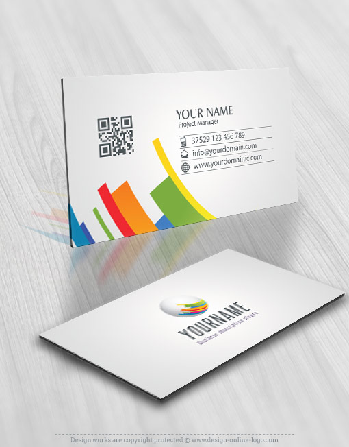 Exclusive Design 3D colorful globe Logo FREE Business Card