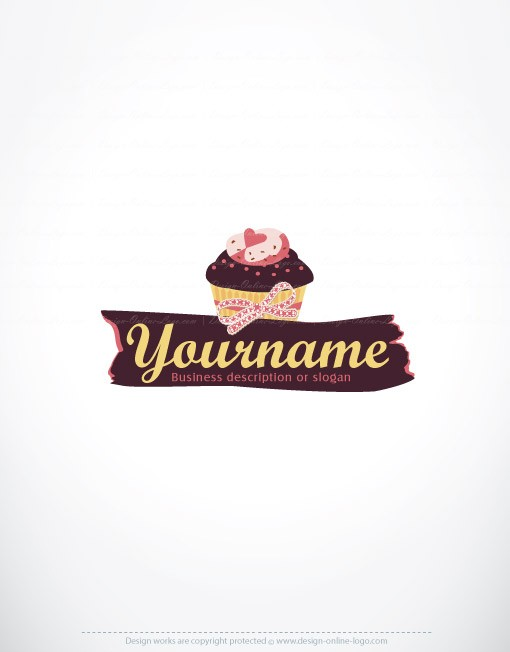 Exclusive Design: cupcake Logo + Compatible FREE Business Card
