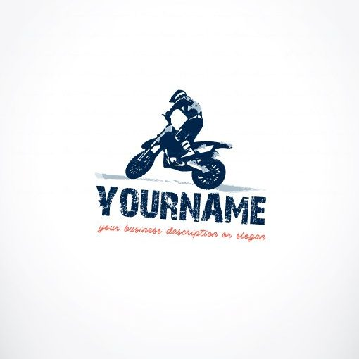 exclusive design  motorcycle rider logo   compatible free