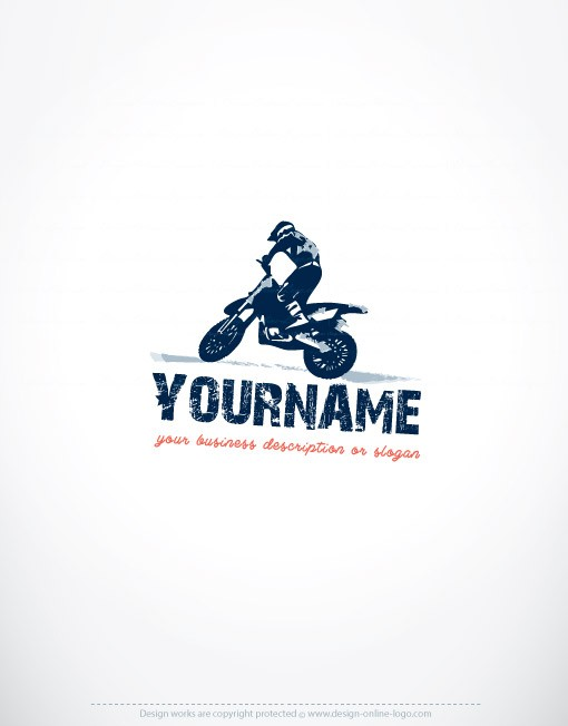 Exclusive Design Motorcycle Rider Logo Compatible Free Business