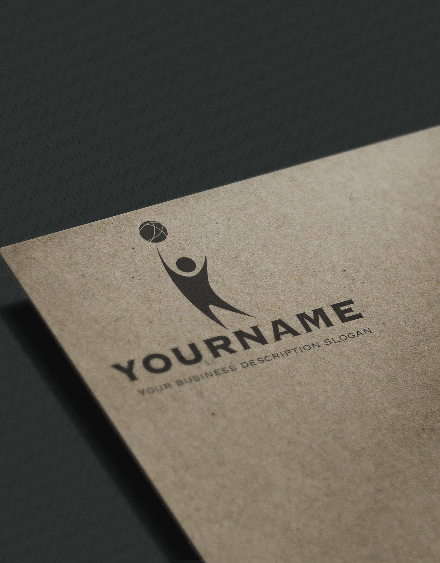 Exclusive Design: man globe logo + Compatible FREE Business Card ...