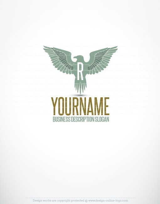 Powerful Eagle logo design