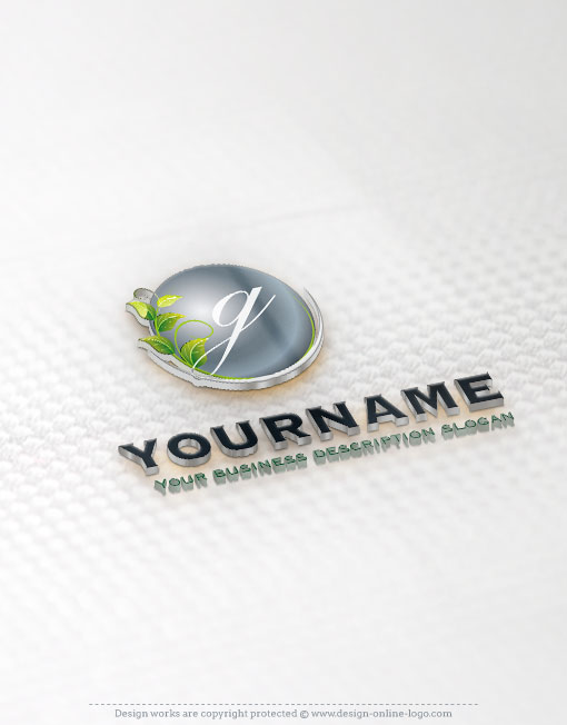 eco green Initials logo template design