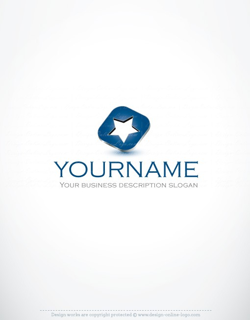 00112--3D-star-ready-made-exclusive-logo-design