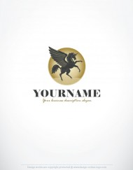 00120--Horse-Unicorn-ready-made-exclusive-logo-design
