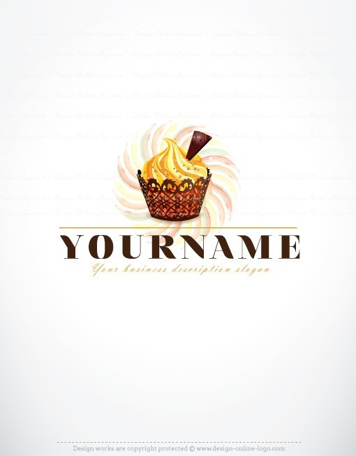 Exclusive Design: cup-cake Logo + Compatible FREE Business Card