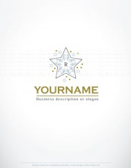 00561-ready-made-gold-STAR-Alphabet-exclusive-logo-design