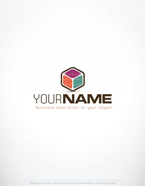 Exclusive Design: innovative Colorful 3D Cube logo + Compatible FREE  Business Card