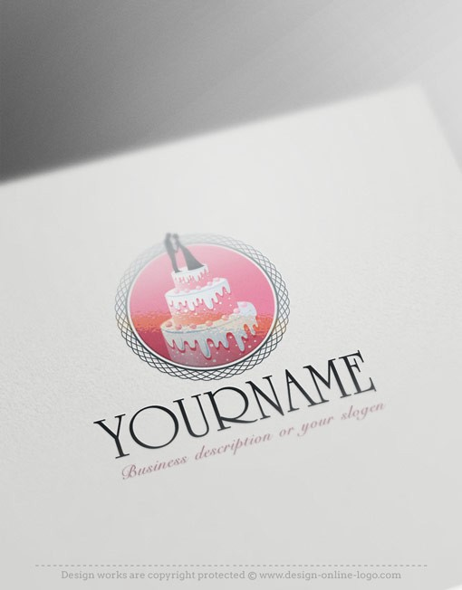 Exclusive Design: Wedding Cake Logo + Compatible FREE ...