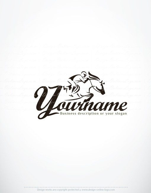 Exclusive Design Horse Riding Logo Compatible Free Business Card Online Logo Design Custom Logo Design
