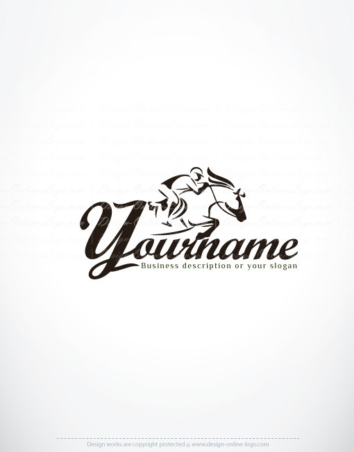 Horse Riding Logo design