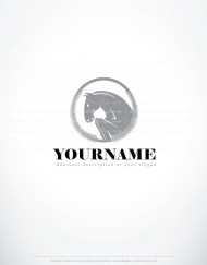 00603-ready-madeHorse-Riding-exclusive-logo-design