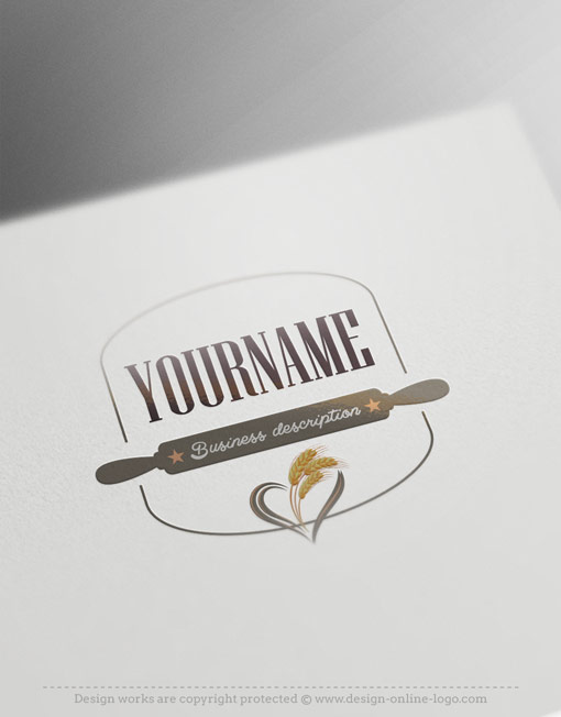 Exclusive Design: Rolling Pin Bakery Logo + Compatible FREE ...