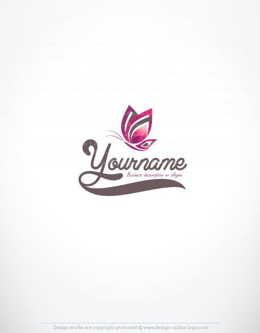 Exclusive Design Butterfly Logo Free Business Card