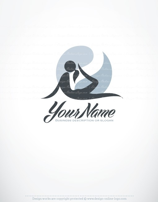 Exclusive Design Woman Yoga Logo