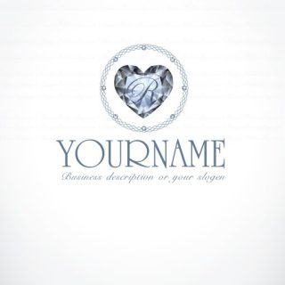 00907-ready-made-Diamond-Heart-exclusive-logo-design