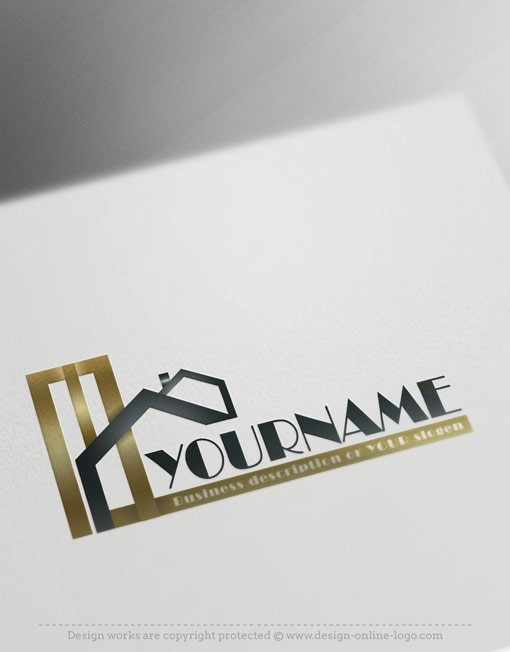 Gold Real Estate logo design for sale