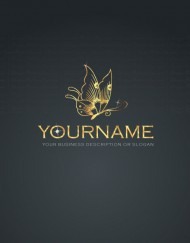 01440--Diamond-jewelry-butterfly-ready-made-exclusive-logo-design
