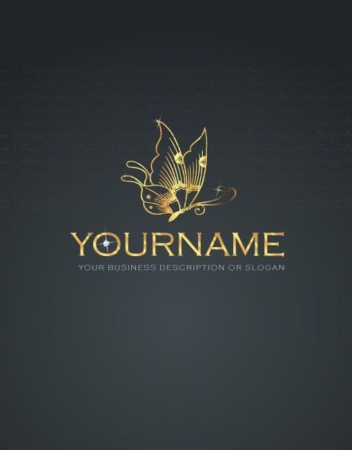 Exclusive Design: Jewel Butterfly Logo + Compatible FREE Business Card ...