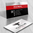 Business card Online Logo design initial eagle wings