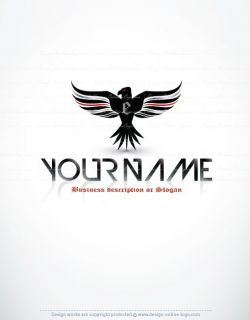 Online Logo design initial eagle wings