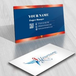 Colorful Bird Fly Logo FREE Business Card