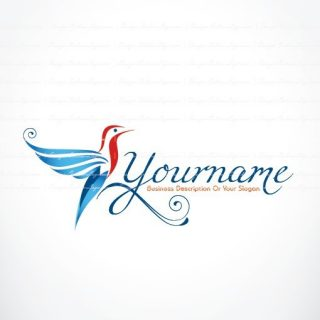 Ready made Online Logo design with colorful Bird fly