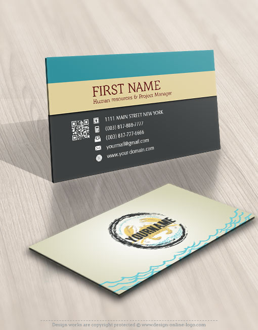 Seafood Crab restaurant logo card design