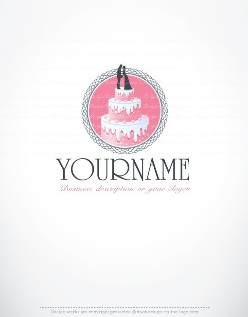 Cake Stencil Designs Free : Exclusive Design: Wedding Cake Logo + Compatible FREE ...