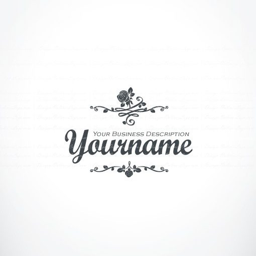 a00608-ready-made-Vintage-Flowers-exclusive-logo-design