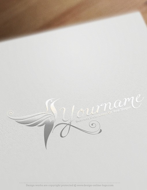 Humming bird Logo templates