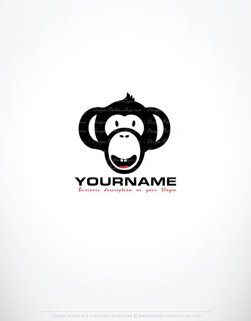 Exclusive design cool monkey logo compatible free business card reheart Choice Image