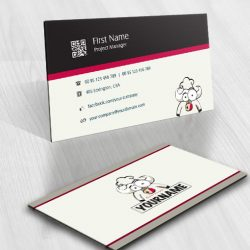 Bull chef online logo for sale free card design