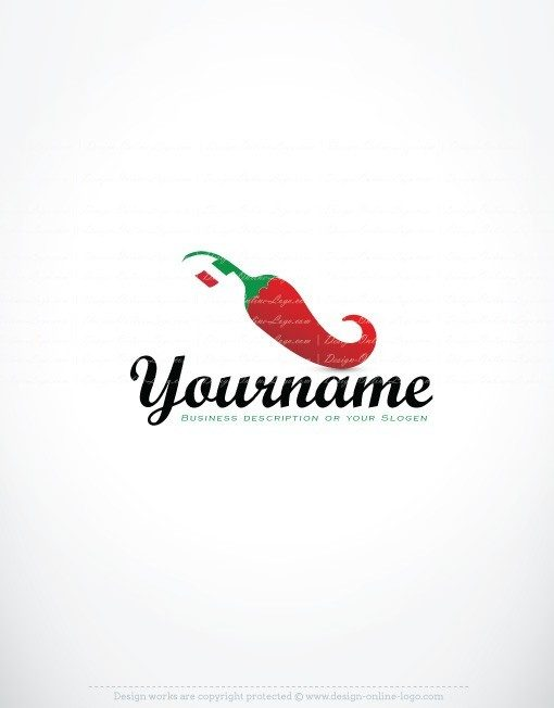 Exclusive Design Italian Chili Food Logo Compatible Free Business Card