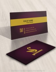 01160-Crown-Swan-logo-business-card-design