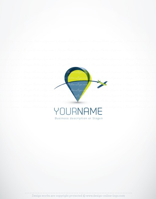 Exclusive Design Check In Airplane Logo