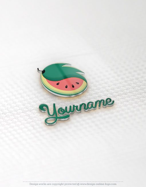 Watermelon online logo for sale free card design