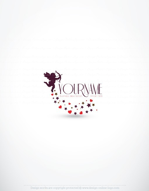cupid online logo for sale free card design