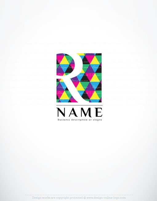 initials art online logo for sale free card design