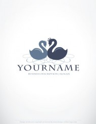 01290-ready-made-Romantic-Swans-exclusive-logo-design