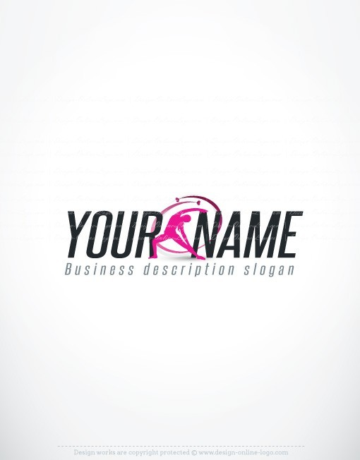 Exclusive design woman sport logo compatible free business card sport online logo for sale reheart Gallery