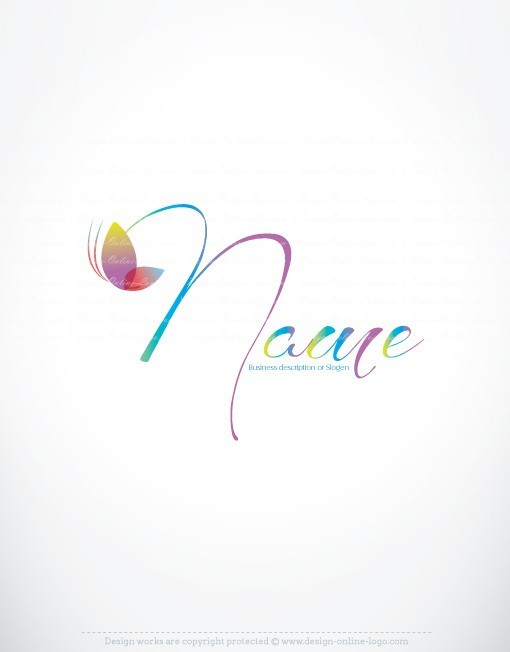 01298-ready-made-colorful-butterfly-exclusive-logo-design