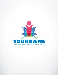 01299-ready-made-Human-Flower-Color-exclusive-logo-design