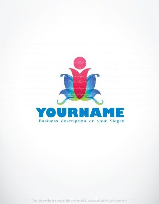 ready-made-Human-Flower-Color-exclusive-logo-design