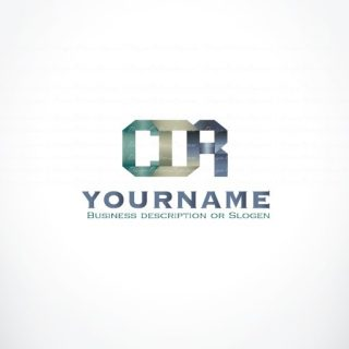 buy ready online logos Origami-initials logo design