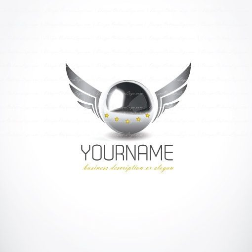 ready-made-3d-Cinema-wings-exclusive-logo-design