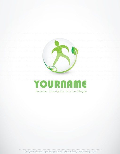 buy ready online logos eco-man logo design