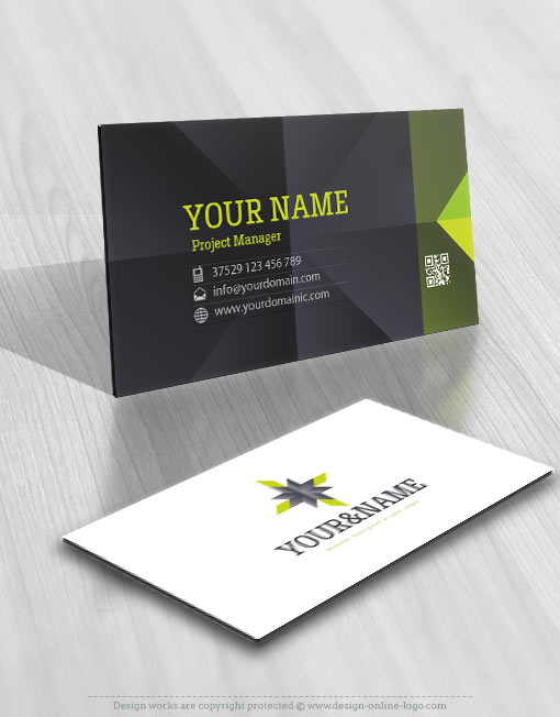 Exclusive design clean geometric logo free business card logos of this type are suitable for branding the business of an engineer architect reheart Gallery